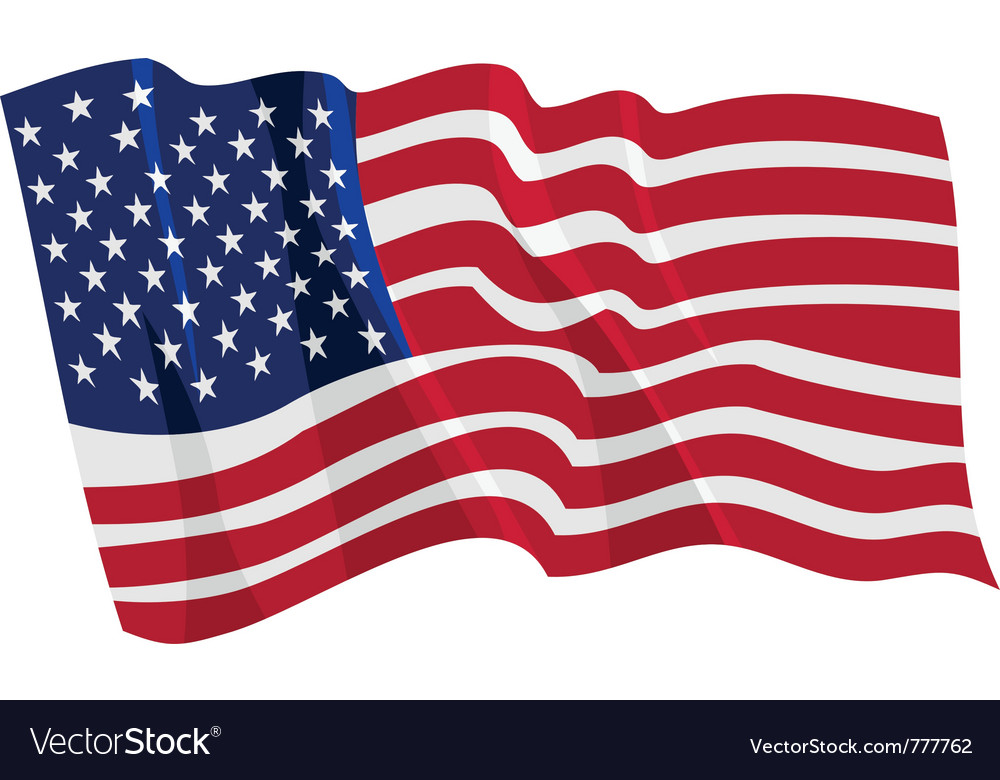 Political waving flag of united states vector image