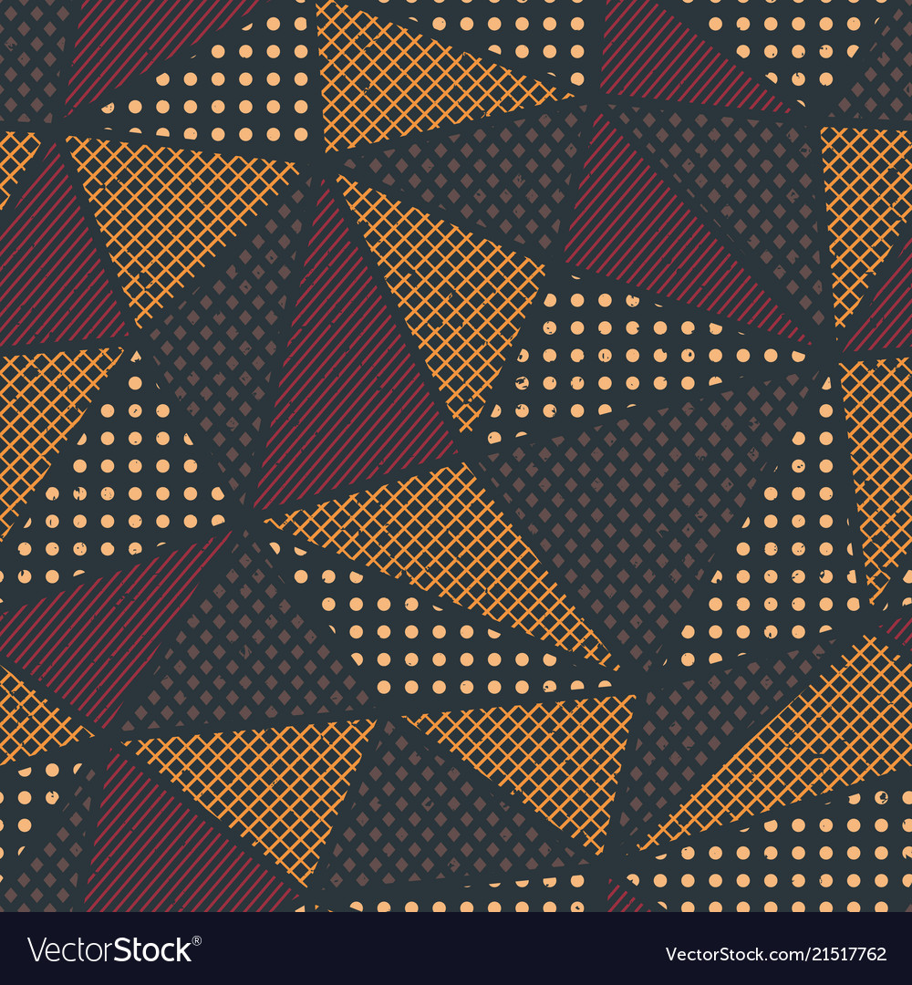 Triangle pattern with cloth effect