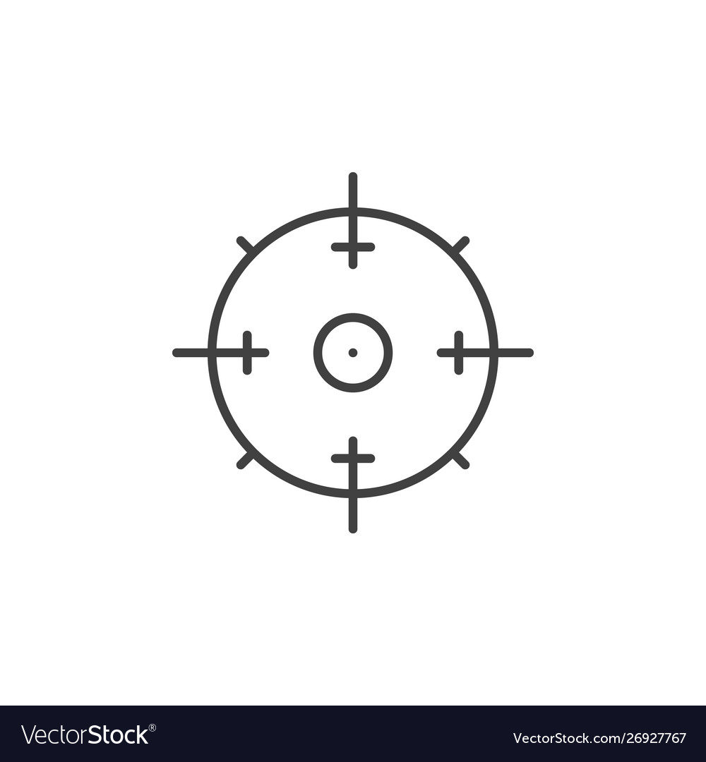 Aim concept minimal icon in thin line style