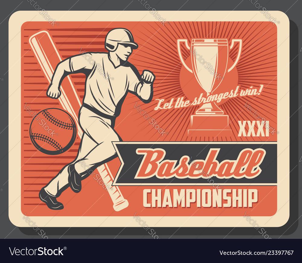 Baseball or softball player ball bat and trophy