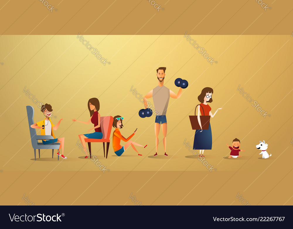 Big traditional family concept of