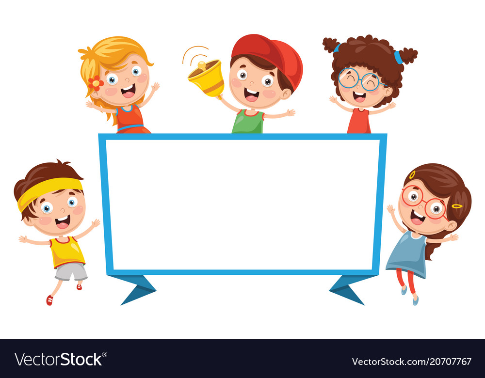 Children banner vector image