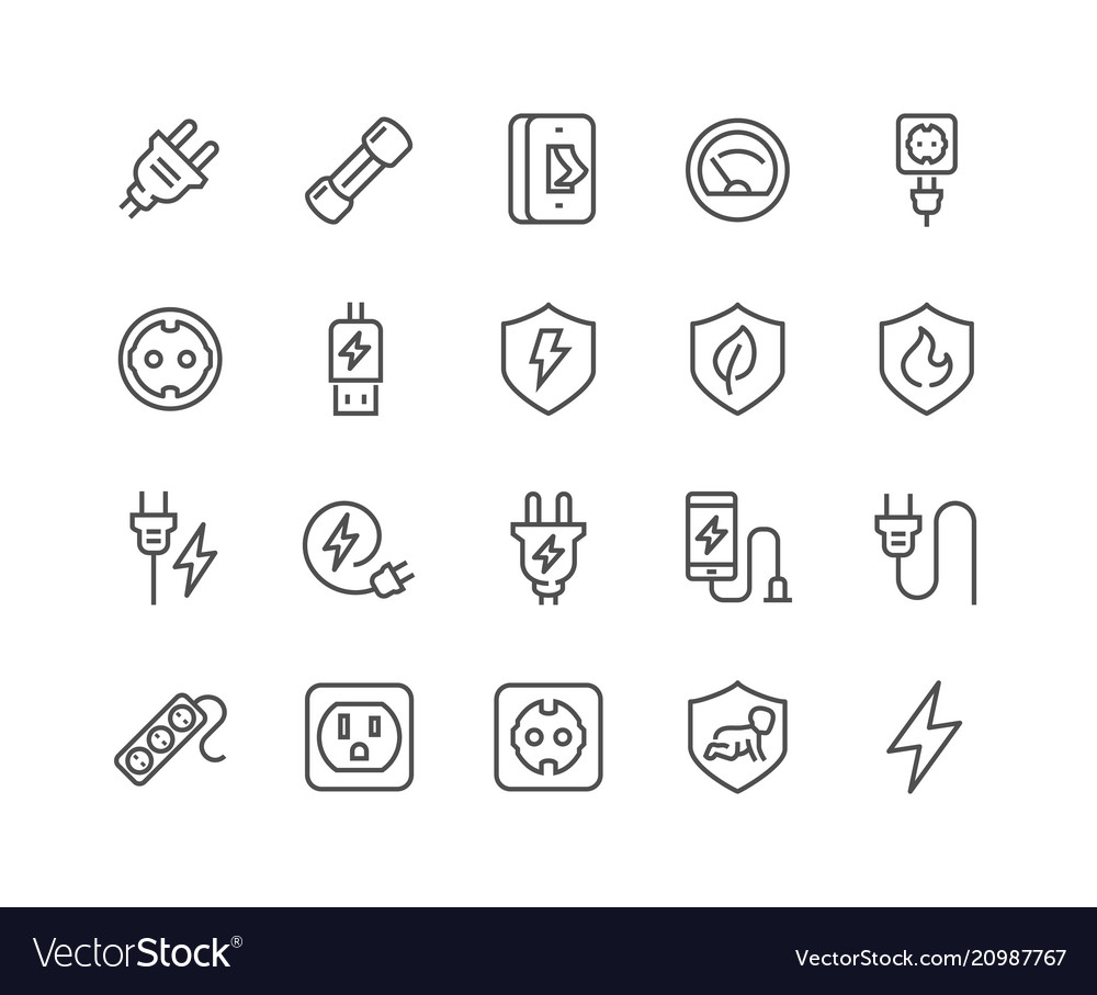 Line surge protector icons