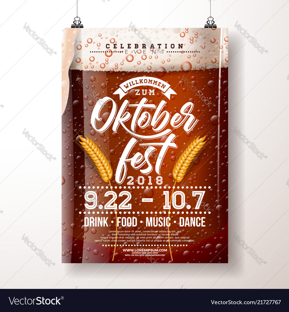 Oktoberfest party poster with fresh