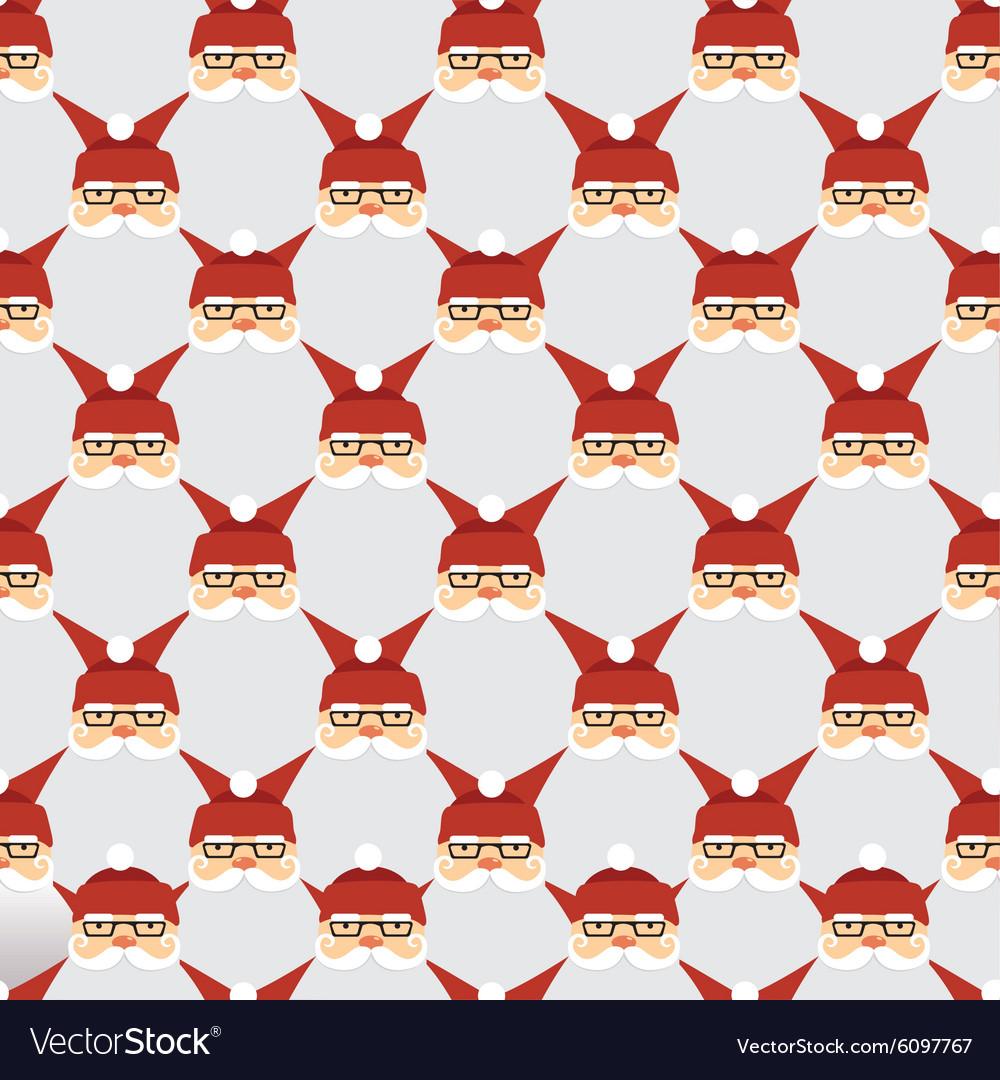 Santa seamless pattern