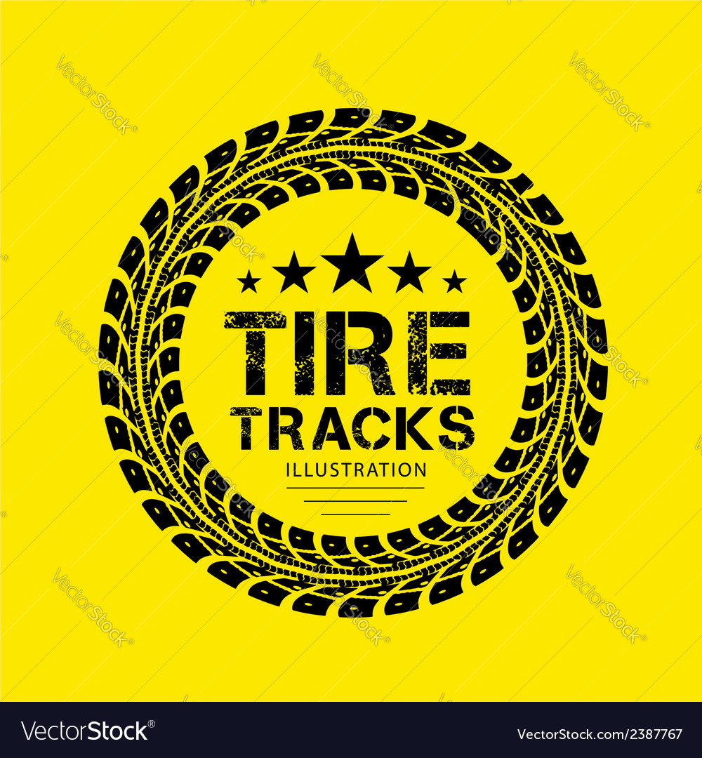 Tire Track 04 vector image