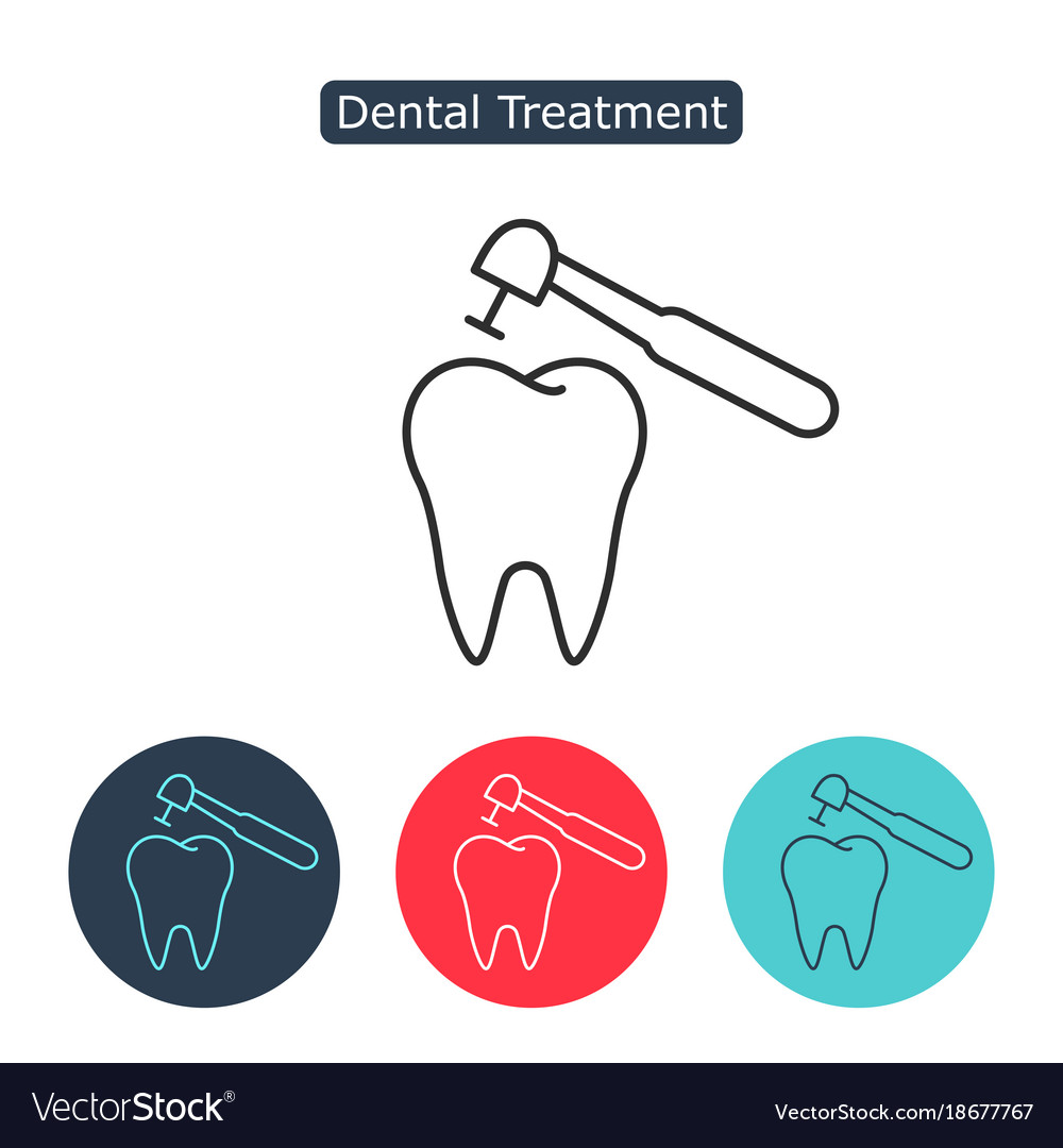 Treatment of tooth icon