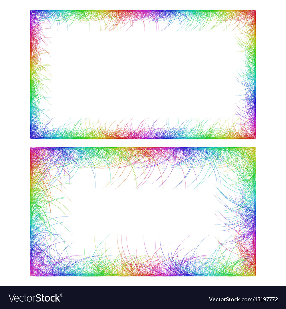 Business card border templates in rainbow colors vector image flashek Choice Image