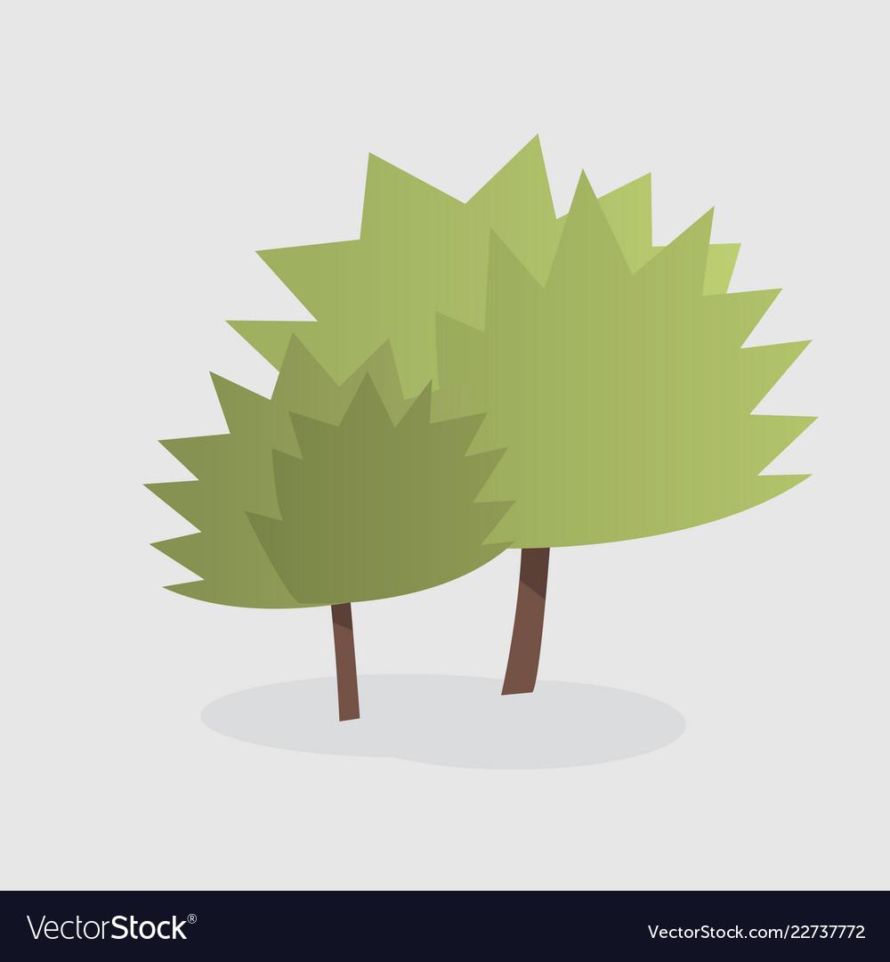 Cartoon of two trees
