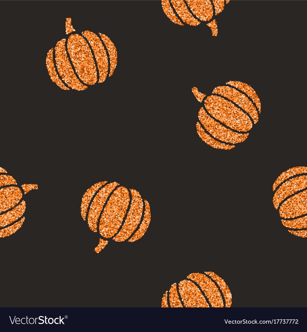 Cute Glitter Pumpkins Background