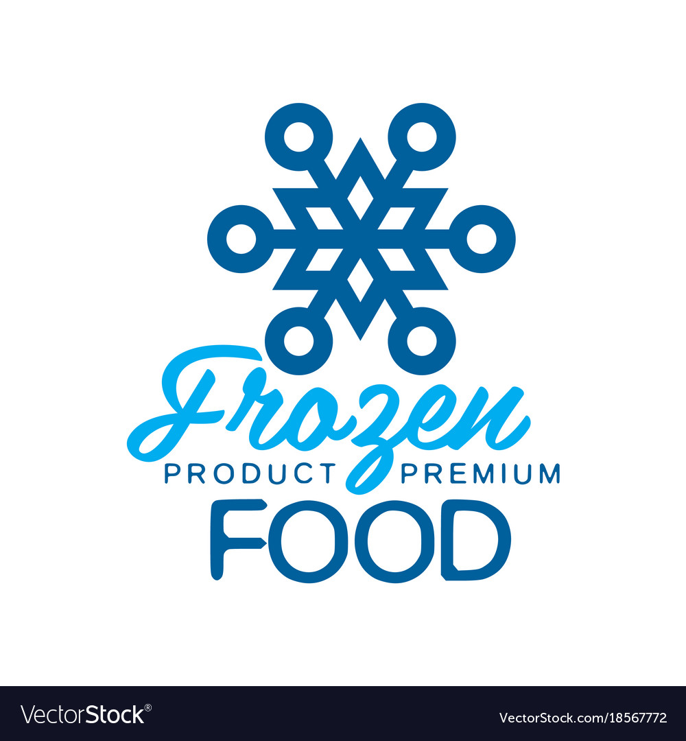 Frozen product premium food label for freezing vector image