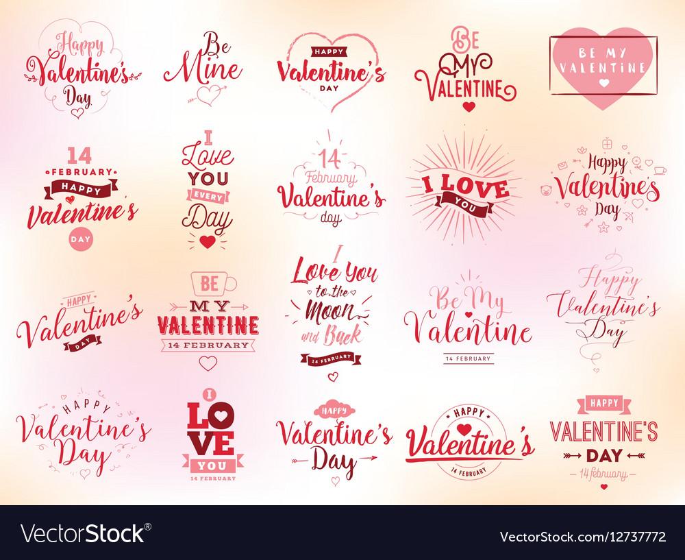 Happy Valentines day typography design