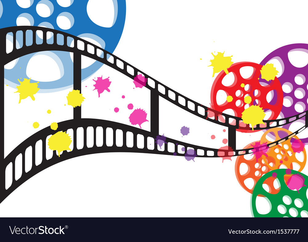 Background film vector image