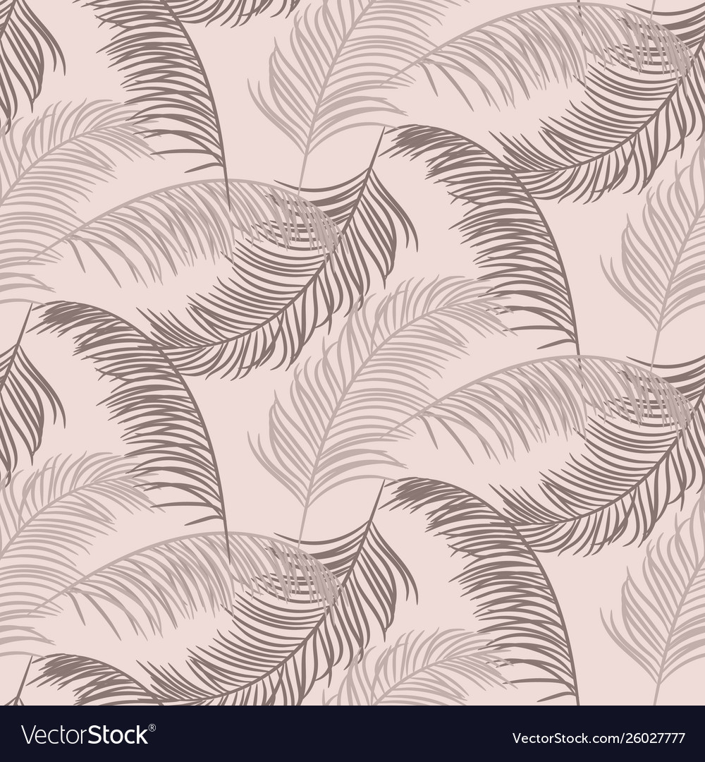 Palm leaves seamless pattern design dusty