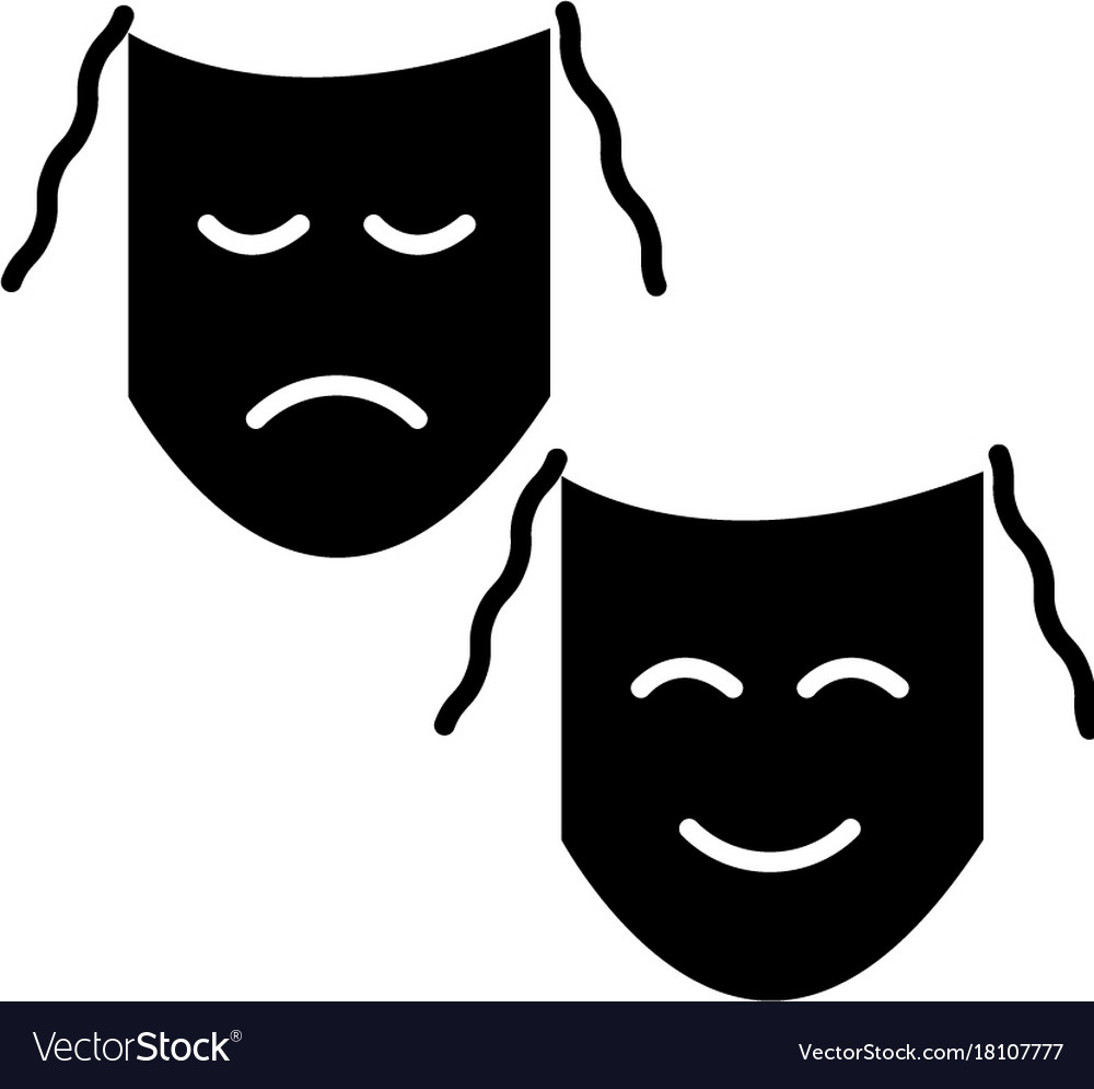 Theater - masks show icon