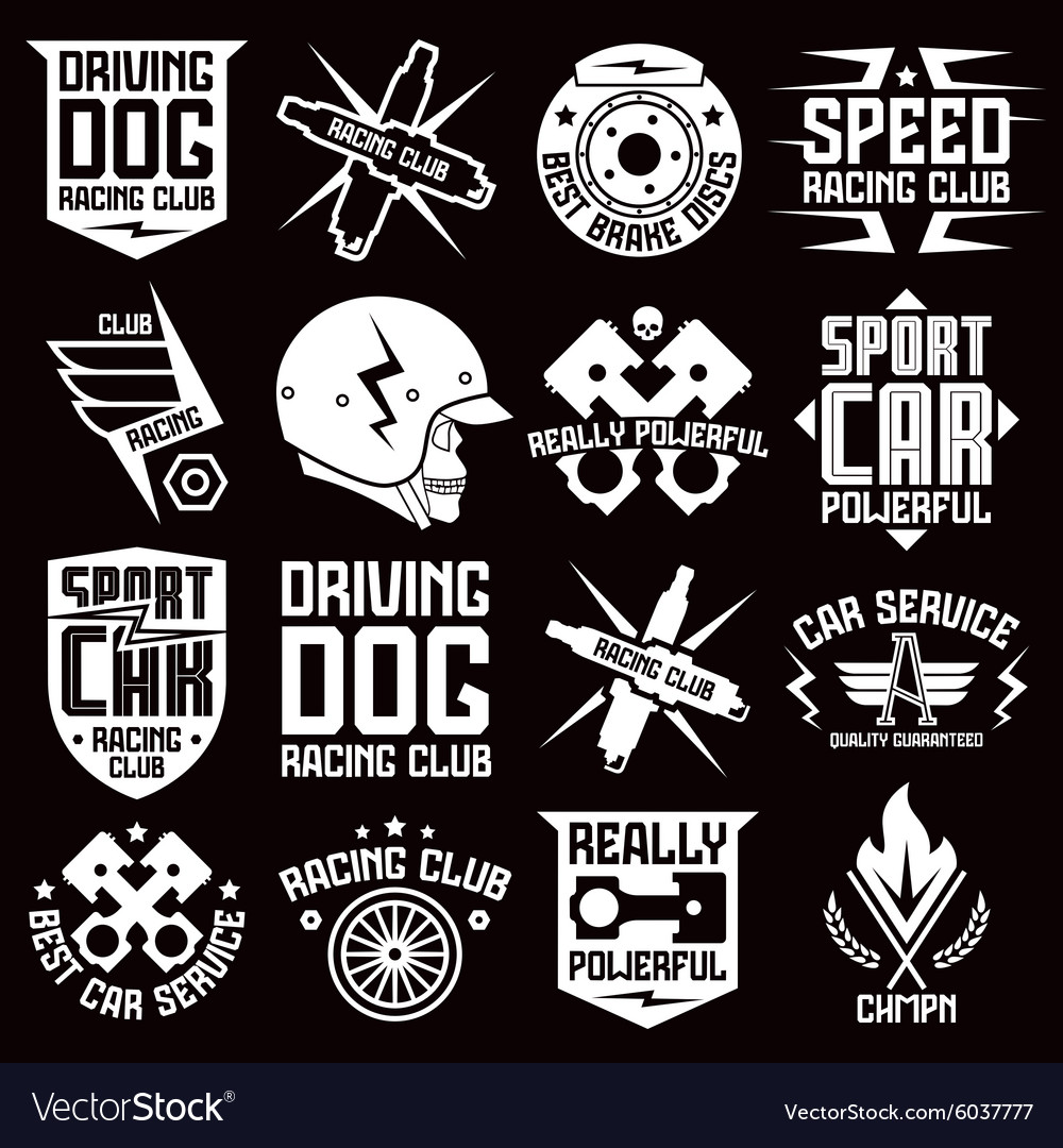Vinyl Stickers On Car Laconic Royalty Free Vector Image