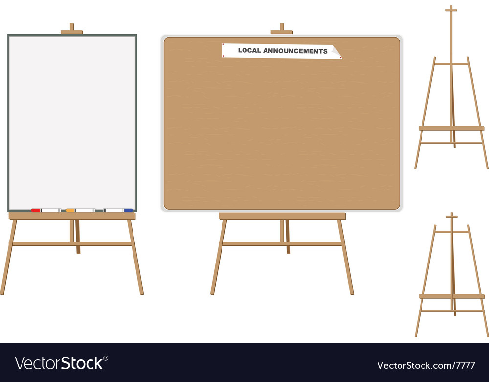 White board and wooden board