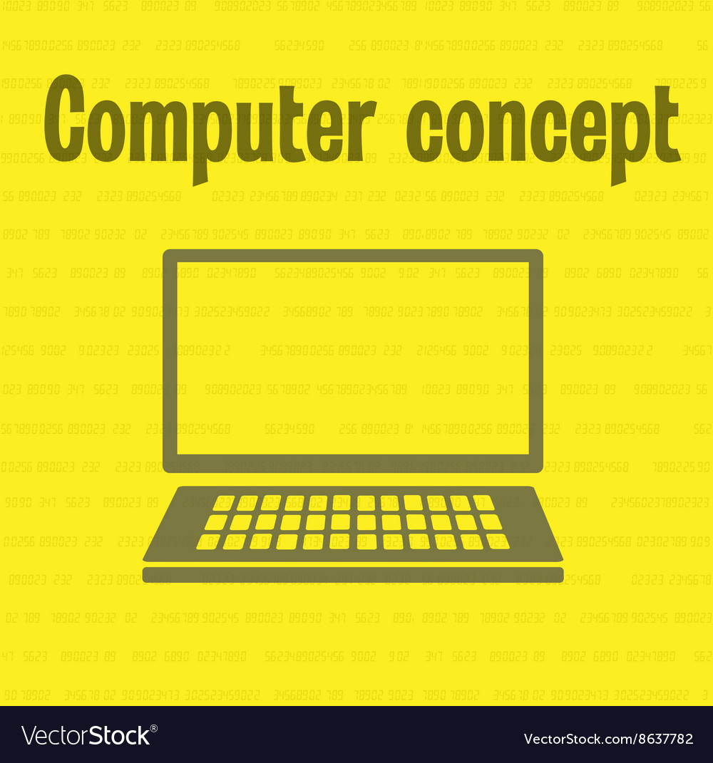 Concept office computer