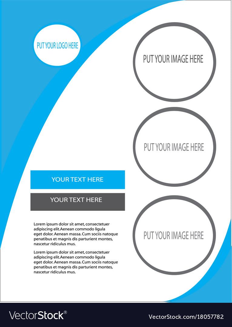 Creative business flyer vector image