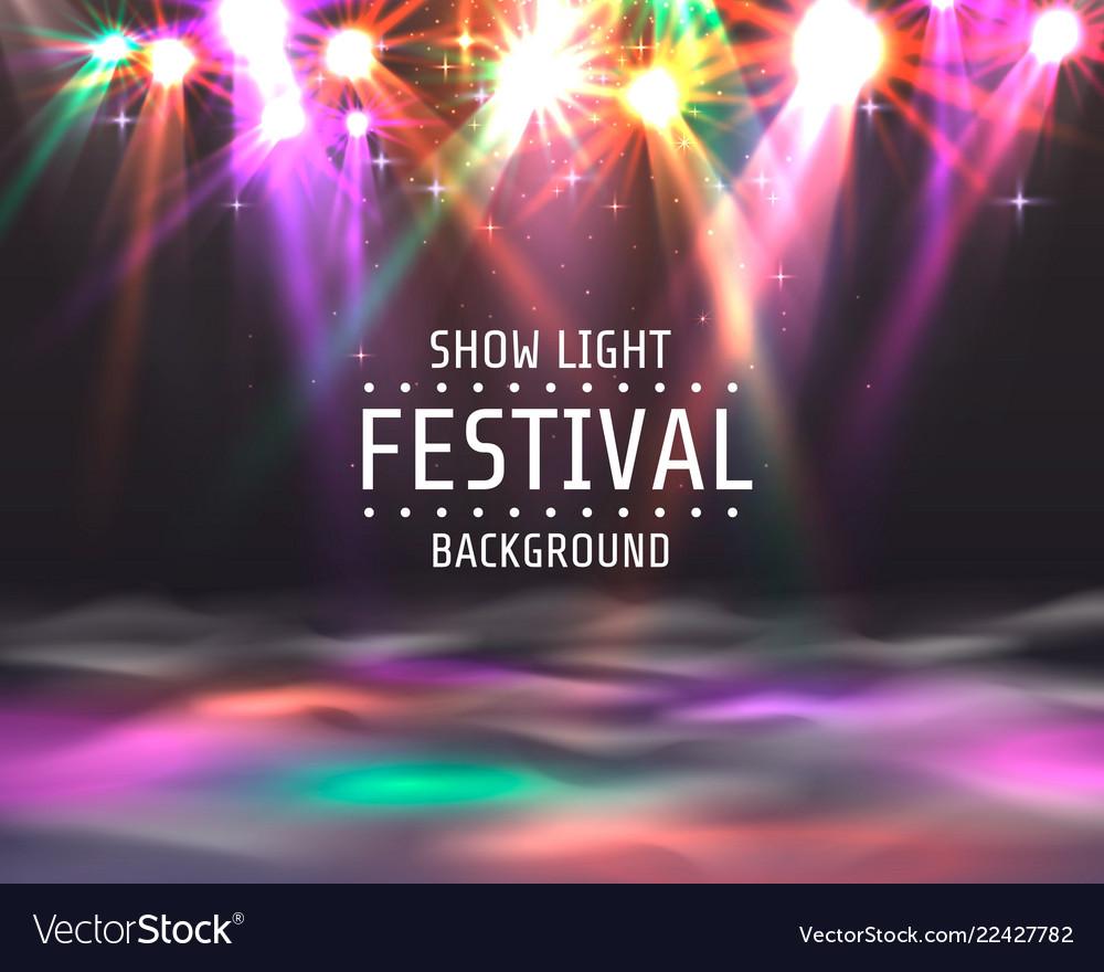 Festival show light dance floor banner
