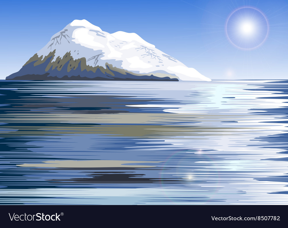 Snowy Mountain Painting vector image