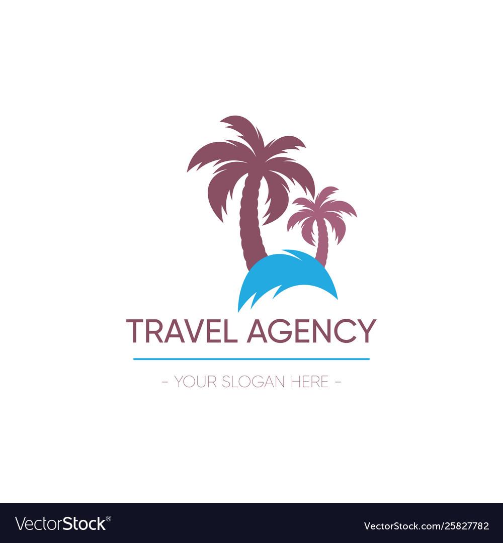 Travel agency logo design palm tree