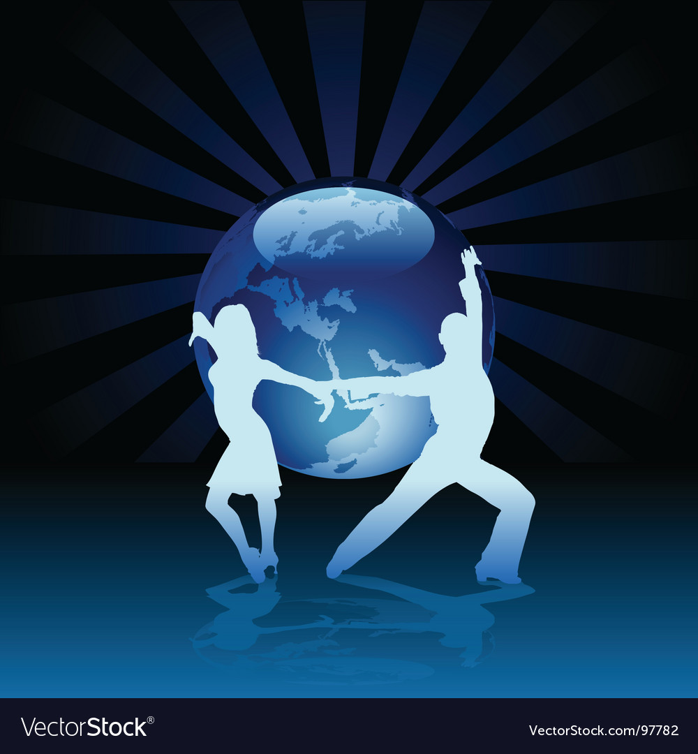 World latino dance vector image