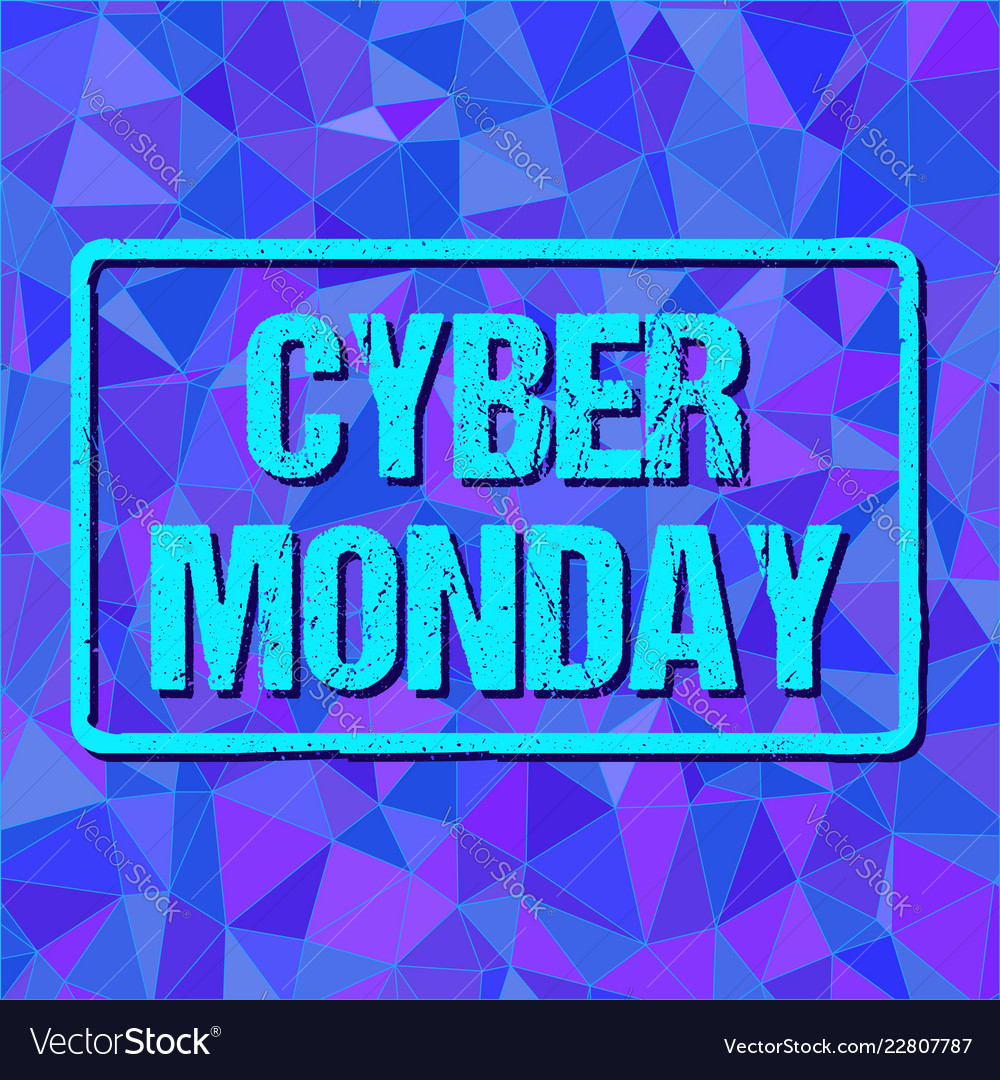 Banner with cyber monday sign in frame on