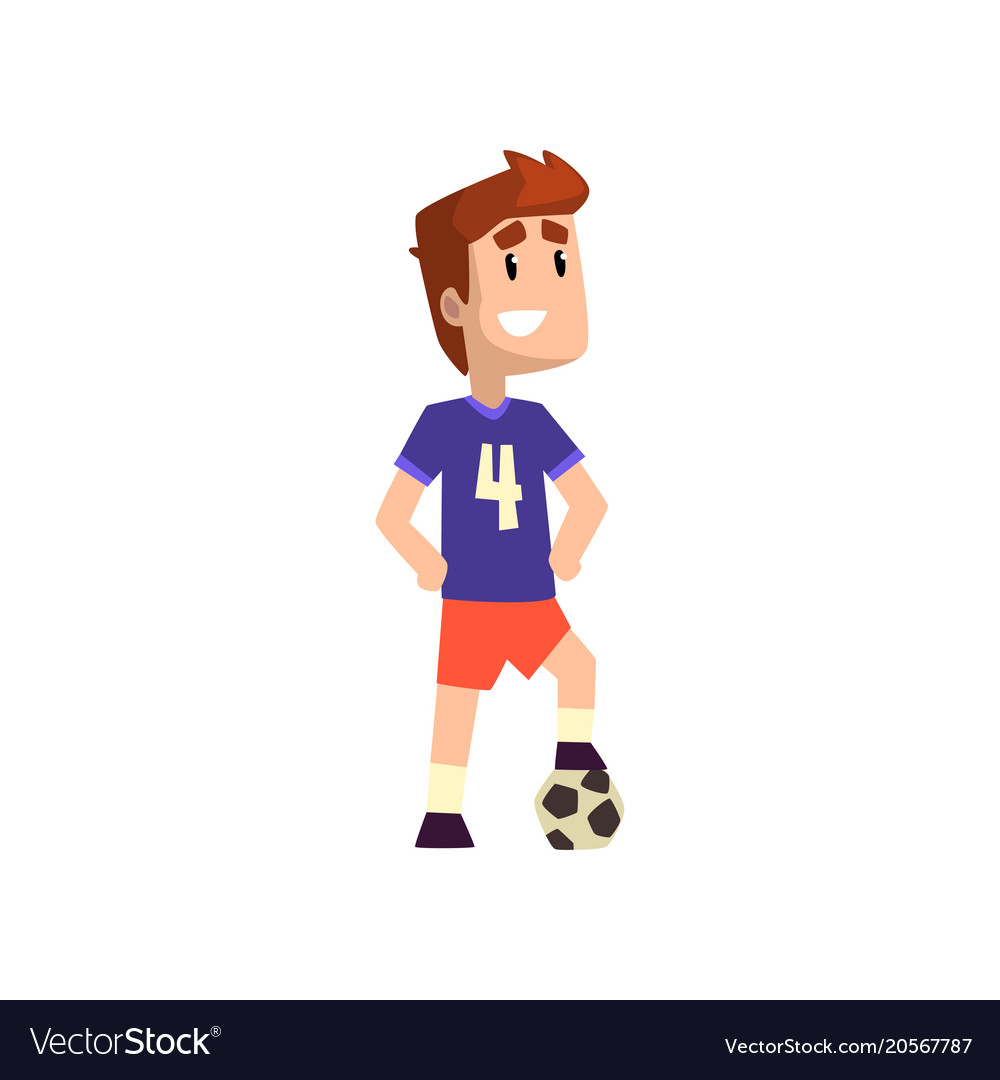 Football soccer player on a