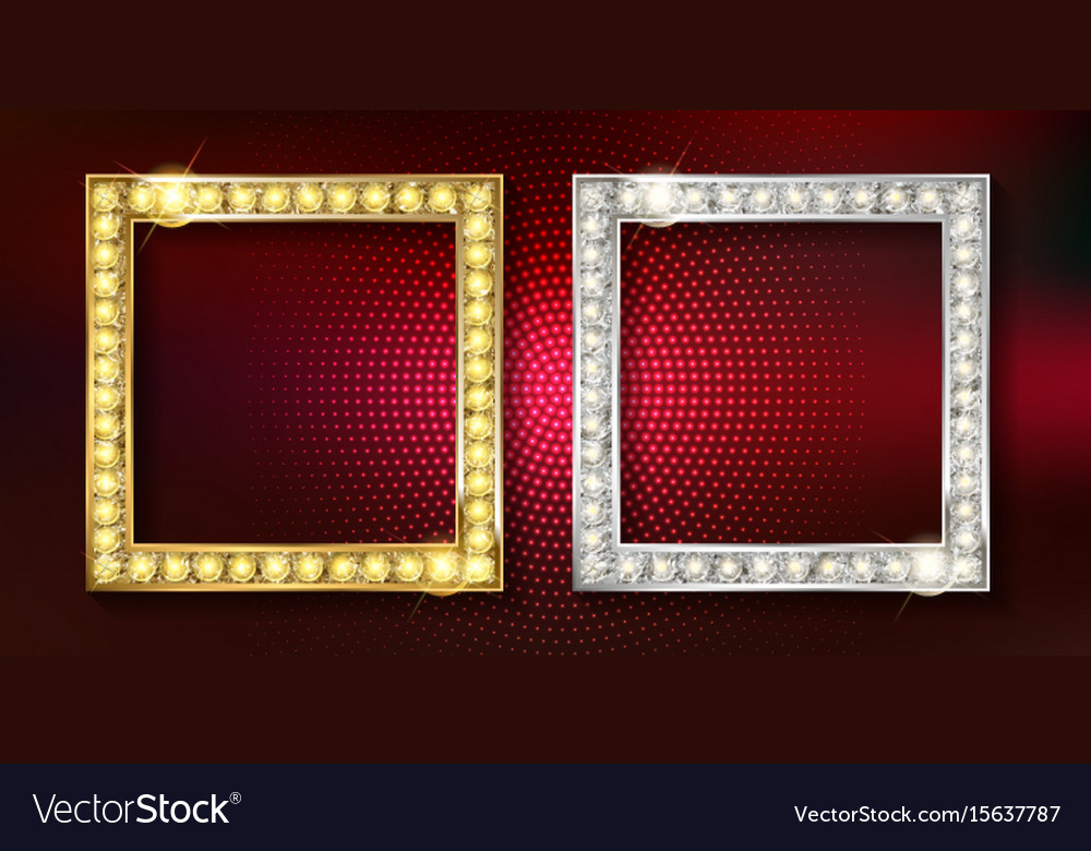 Gold And Silver Picture Frames Royalty Free Vector Image