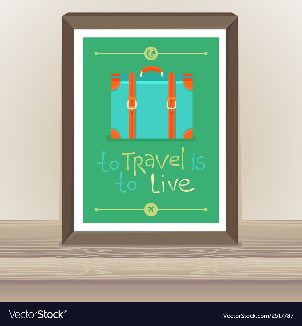 Poster - To travel is to live