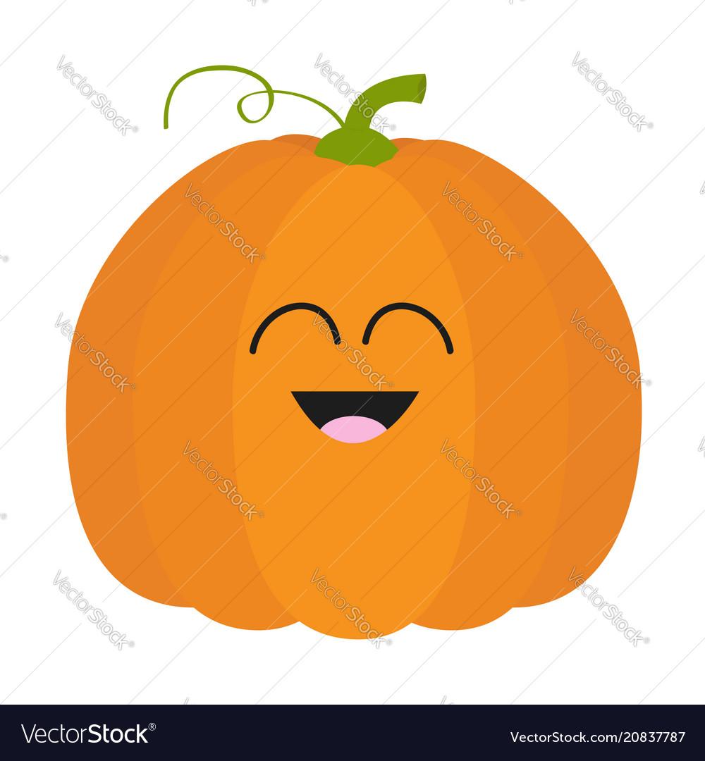 Pumpkin icon orange color vegetable collection vector image