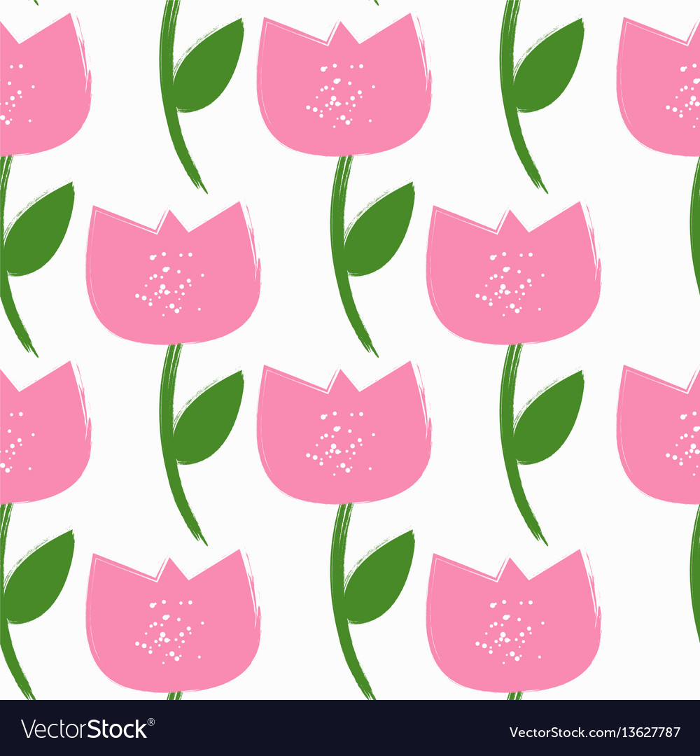 Simple flower seamless pattern background