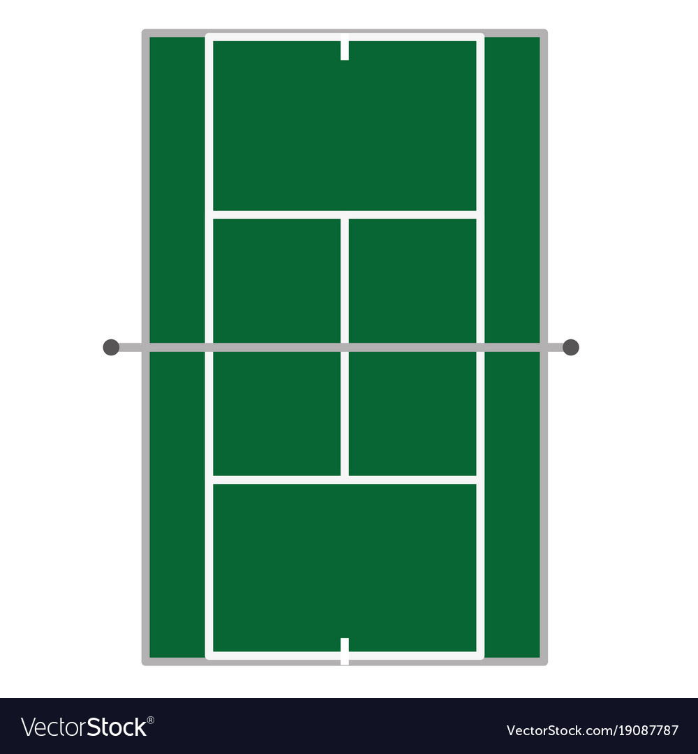 Tennis Court Design Royalty Free Vector Image Vectorstock