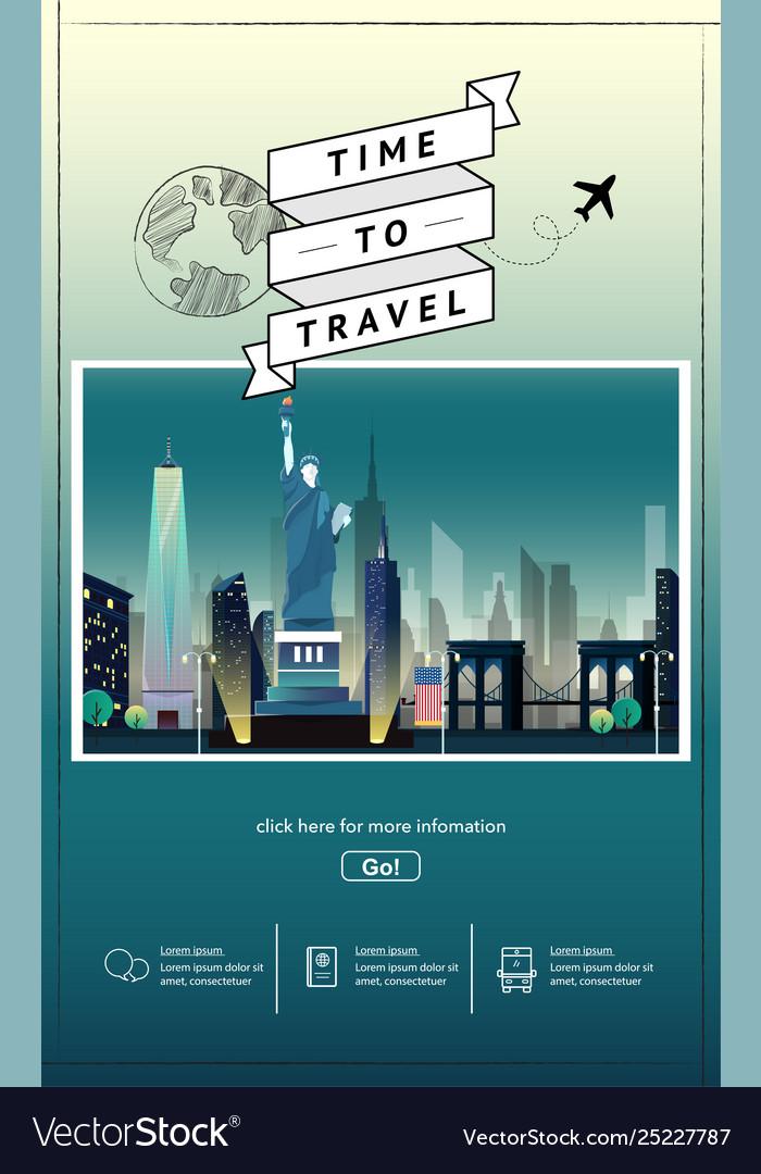 Travel to newyork presentation template