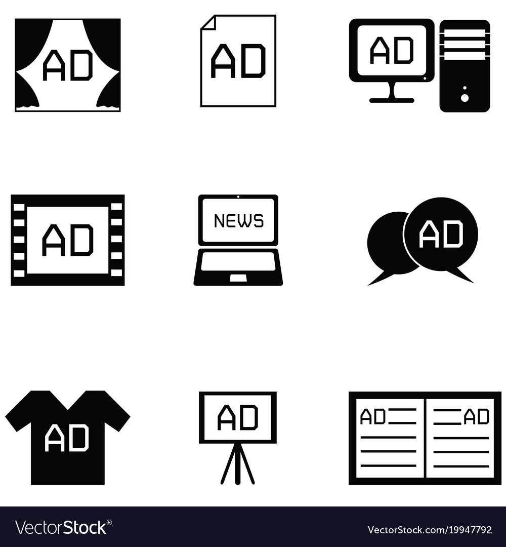 Advertisement icon set