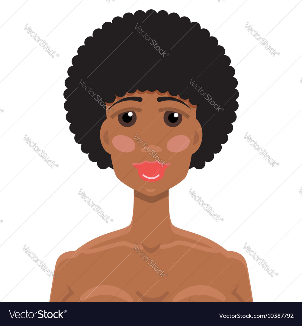 African American young woman portrait
