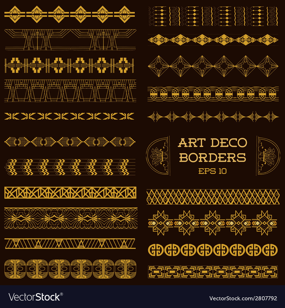 Art Deco Vintage Borders and Design Elements