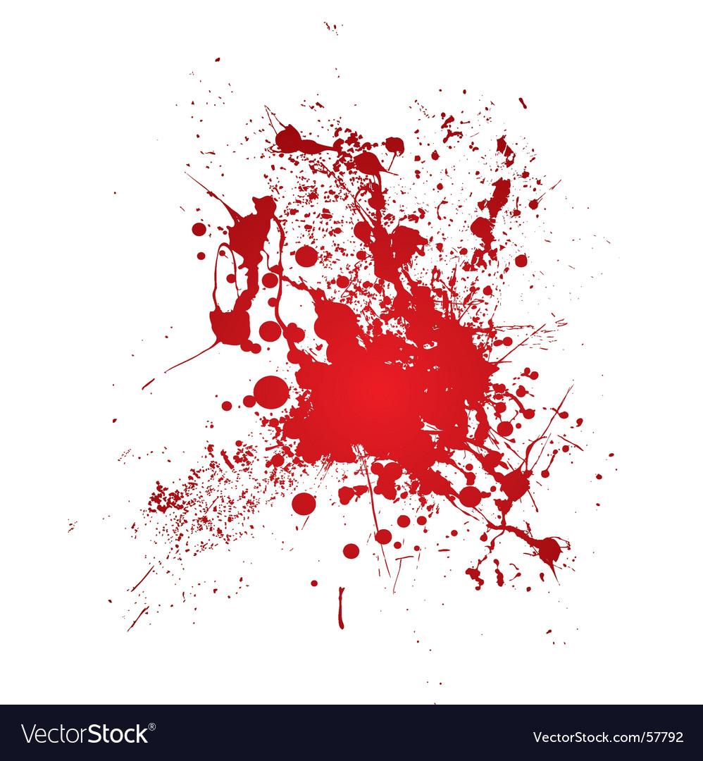 Bloody splat vector image