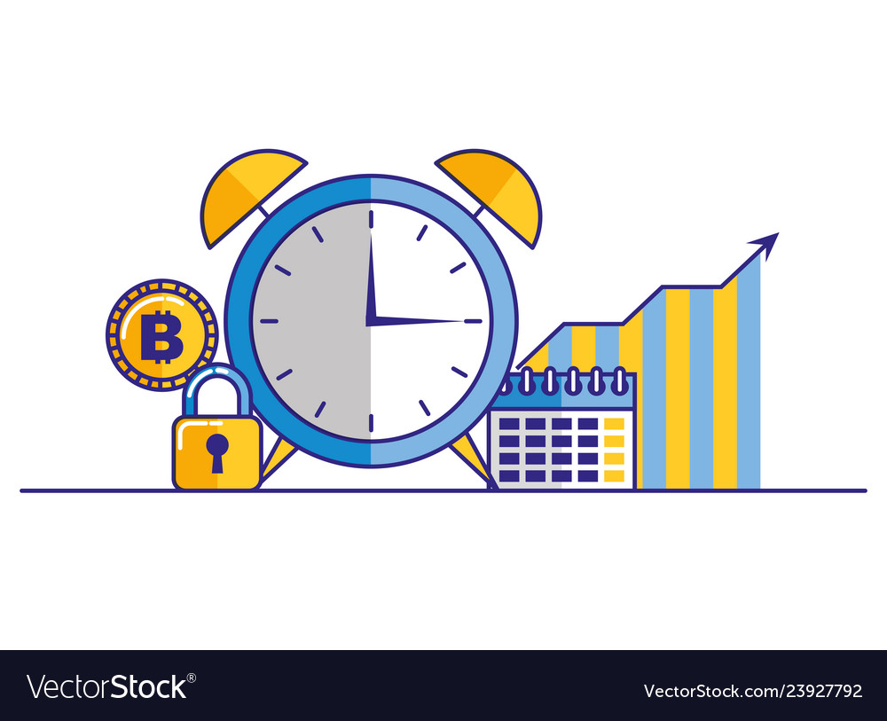 Business calendar chart bitcoin clock