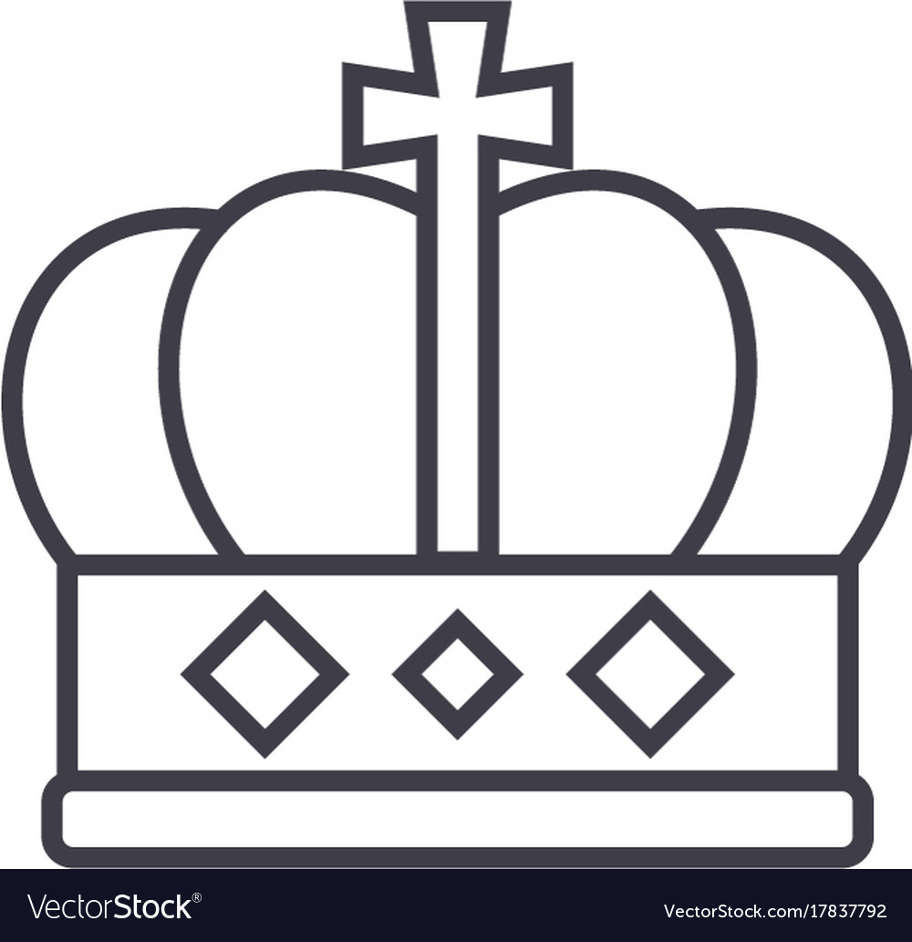 King crown line icon sign o