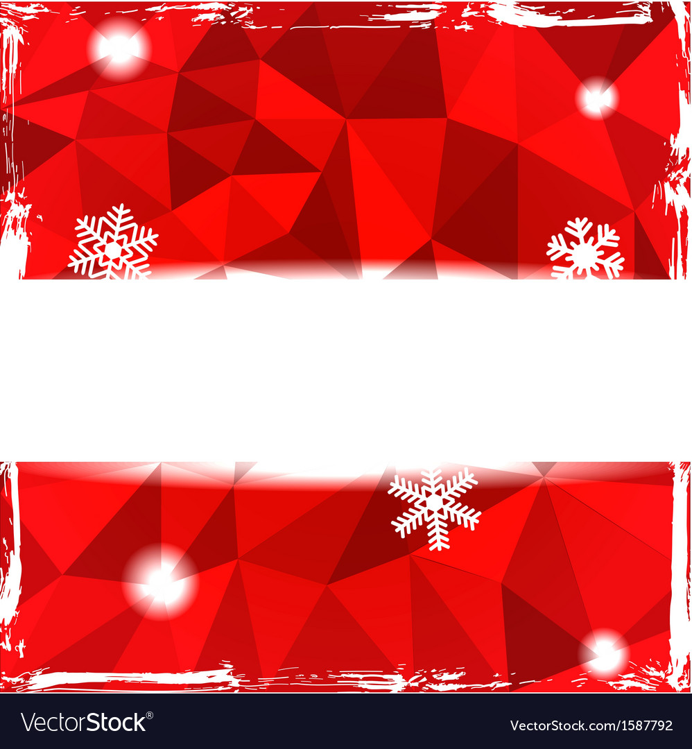 Red triangle grunge christmas background