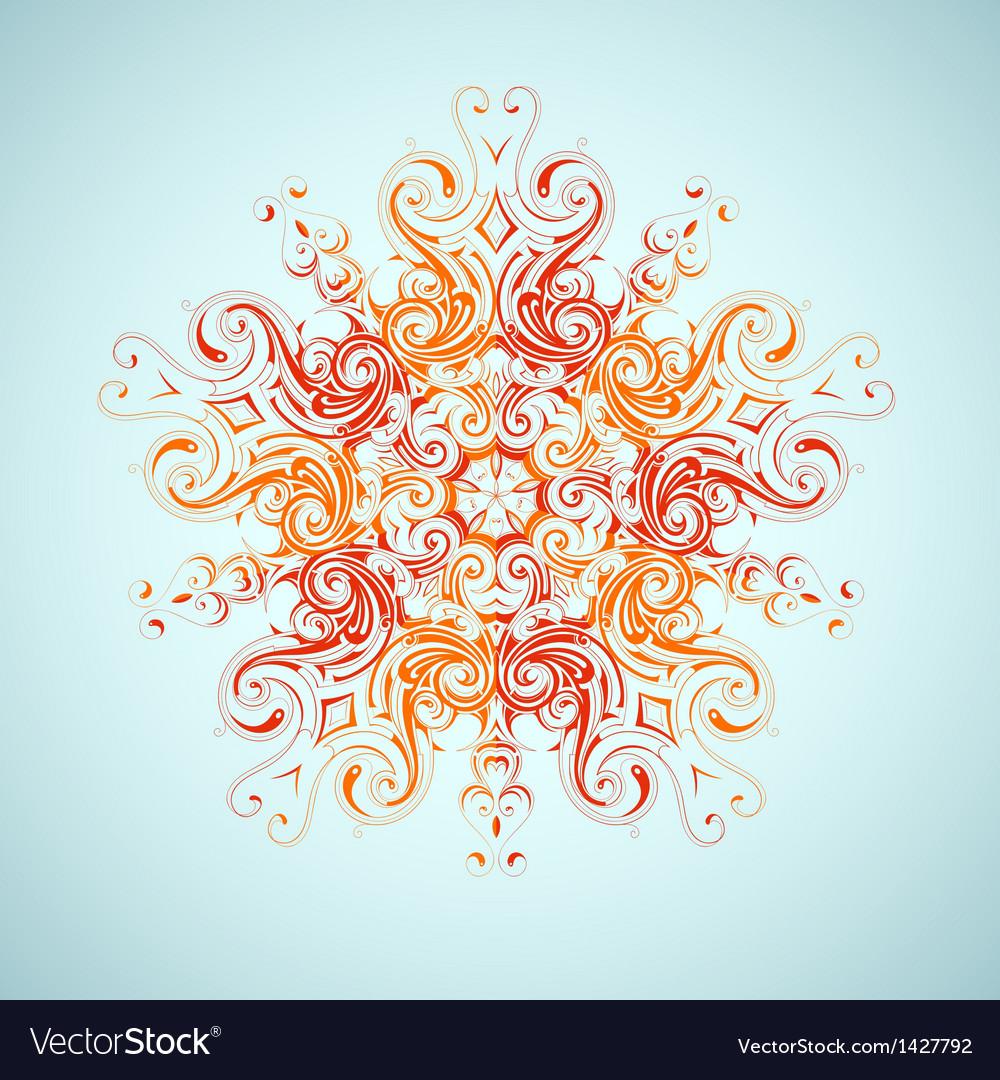 Tribal sun design vector image