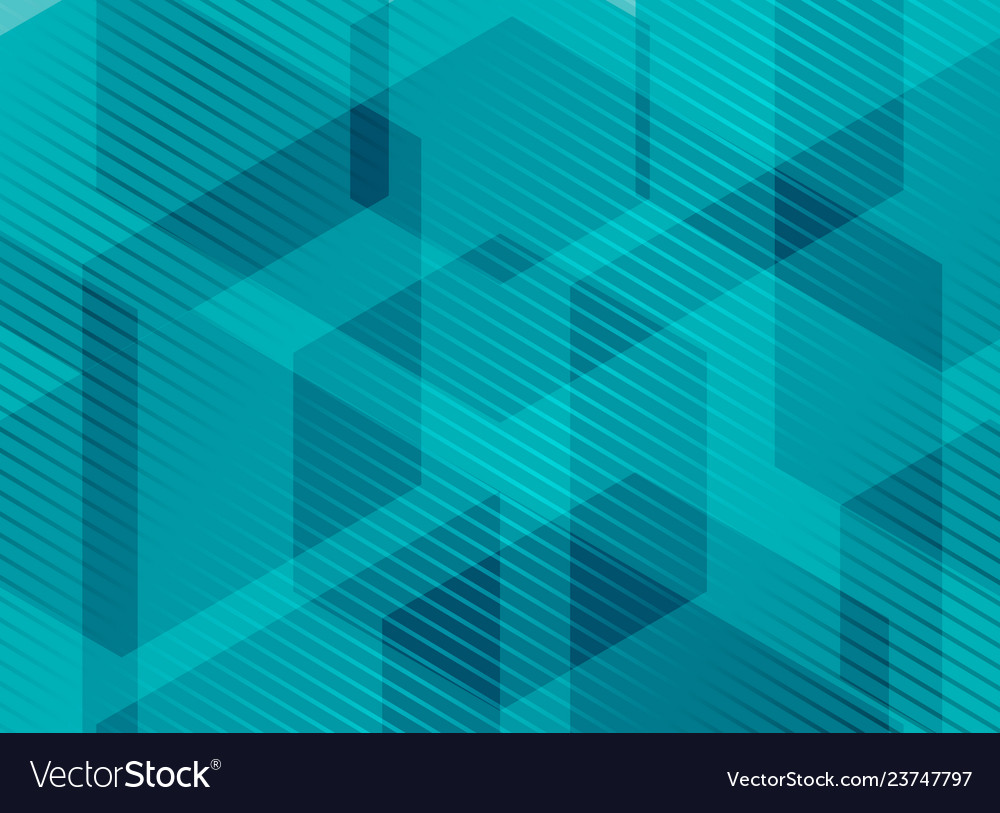 Abstract geometric hexagons blue background with