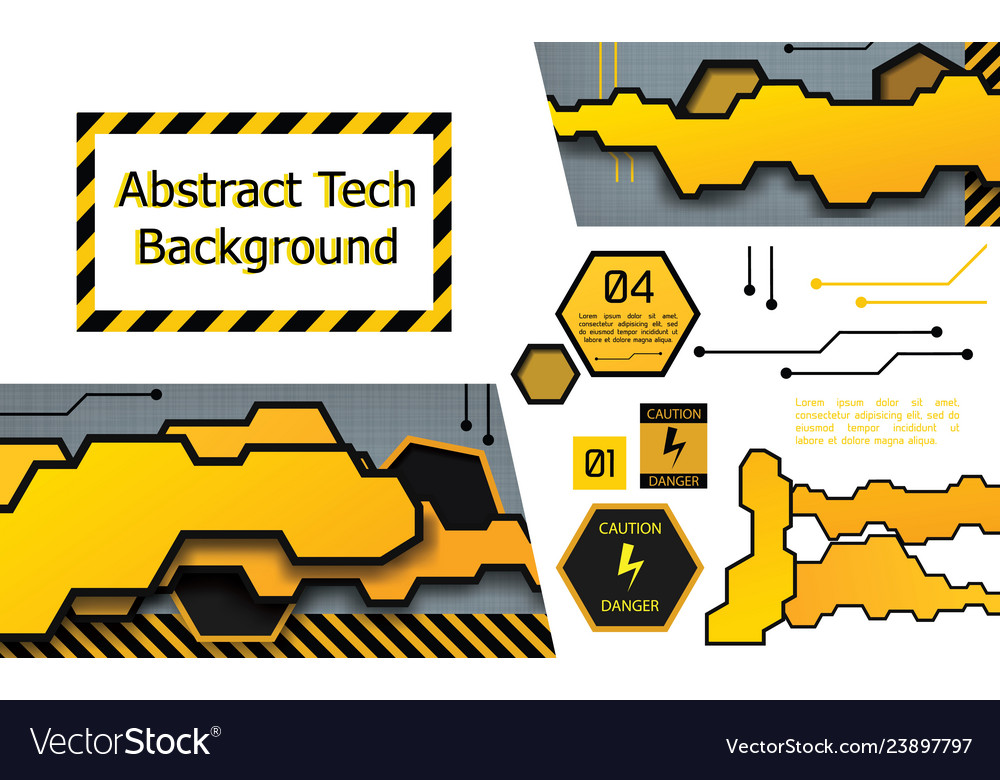 Colorful tech abstract infographic concept