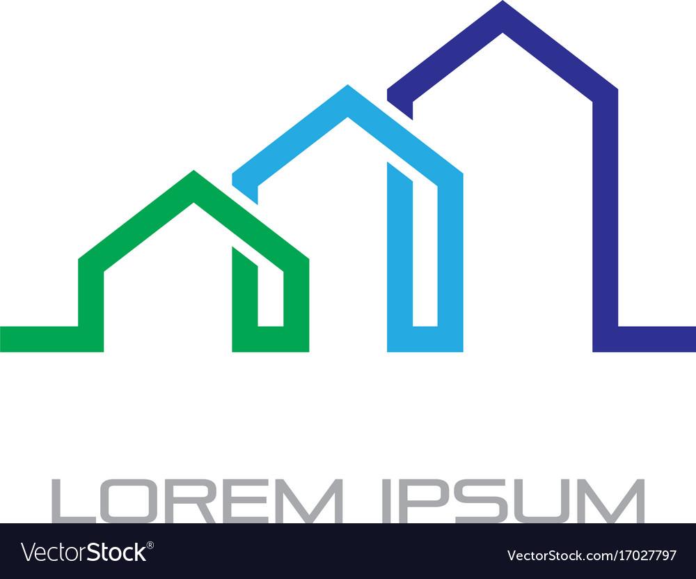 Home building business contruction logo vector image