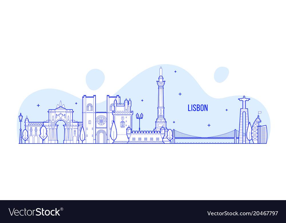 Lisbon skyline portugal city buildings