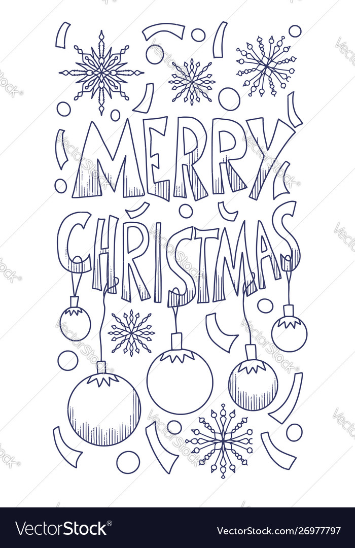 A Christmas Story Logo Vector.Merry Christmas Story Post With Hand Drawn Text