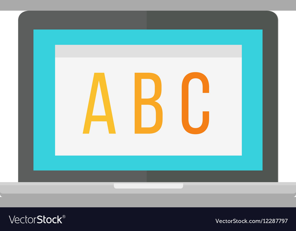 Modern laptop computer vector image