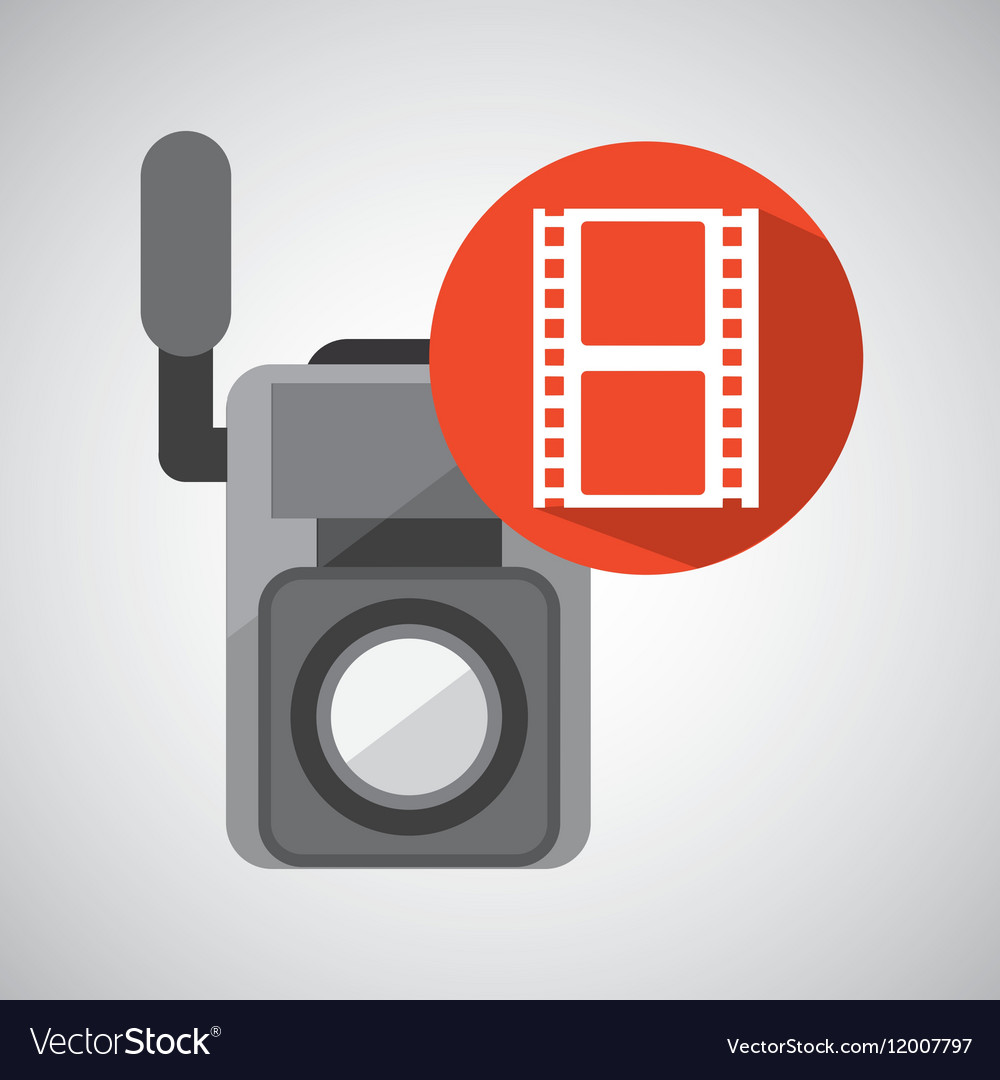 Movie video camera strip film icon
